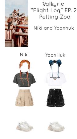 "~𝕍al𝕜yrie~ ""Flight Log"" EP. 2 Petting Zoo Niki and YoonHuk"
