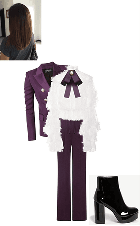 Purple Suit to the Spring Fling