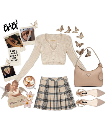 beige summer outfit