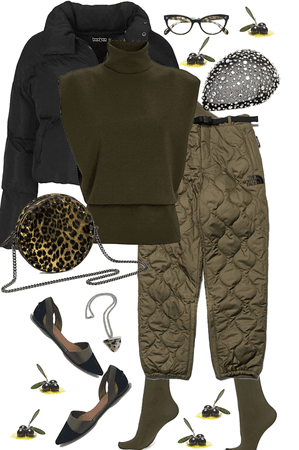Olive and Black