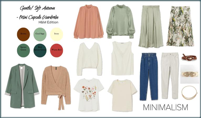 Gentle/ Soft Autumn mini Capsule Wardrobe H&M