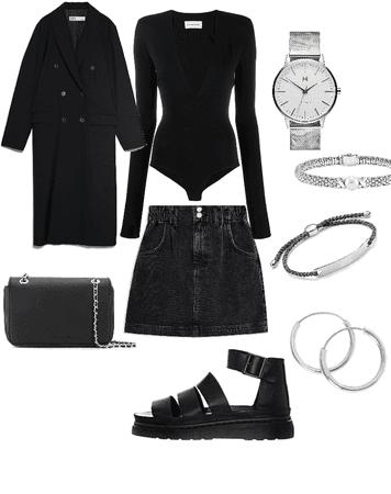 All black winter