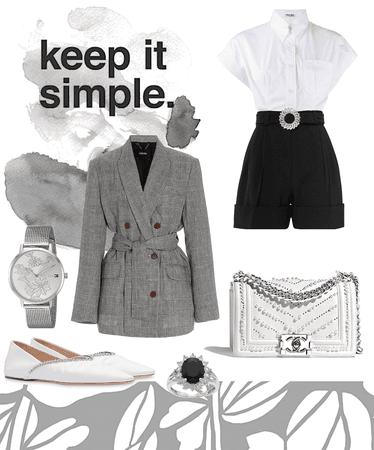 Designer Chic - Grey, Black and White