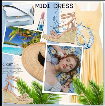 Tropical Midi Dress.