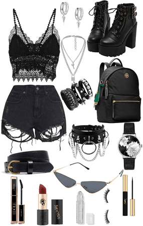 Edgy black fit