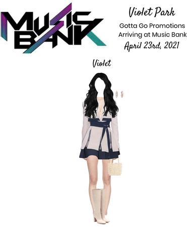 Violet Park   Arriving at Music Bank