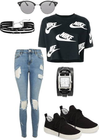 Casual Nike outfit for school