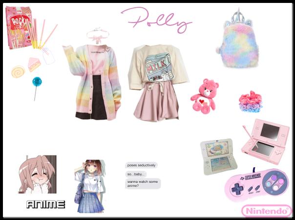 polly, anime girl