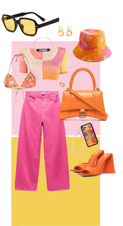 SS21: orange and pink at the beach