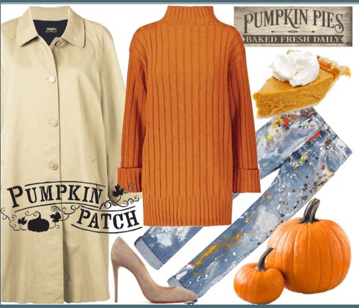 Pumpkin Pie-inspired look