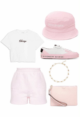 Pink and White Bucket Hat