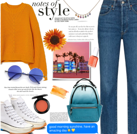 Notes of style: orange and blue