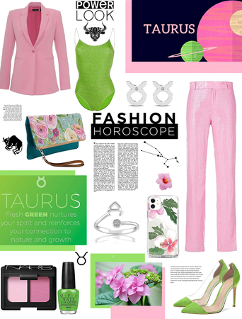 Taurus- Spirit colors.  pink n green.  power look