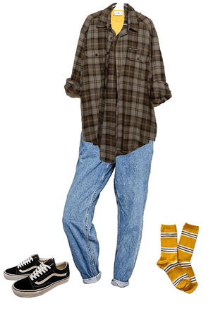 flannel/jeans