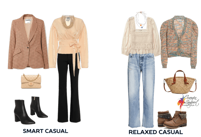Smart casual vs relaxed casual