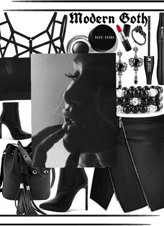 Modern Goth Girl In A Dull Modern World
