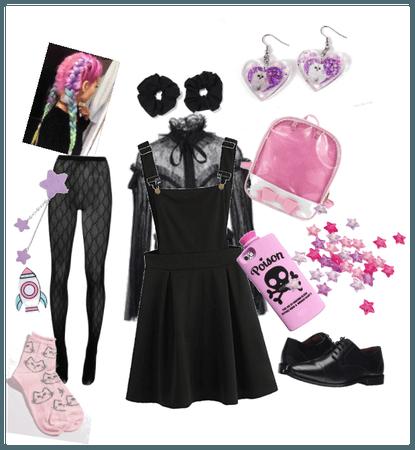 Goth yet pink
