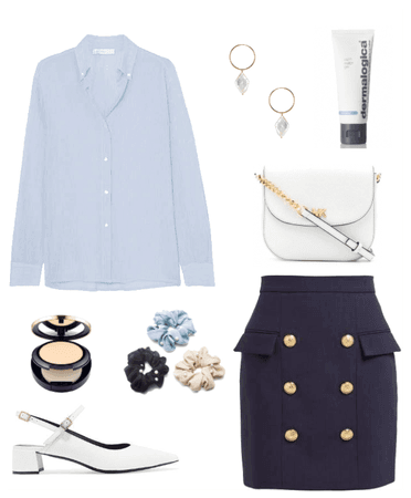 blue office outfit
