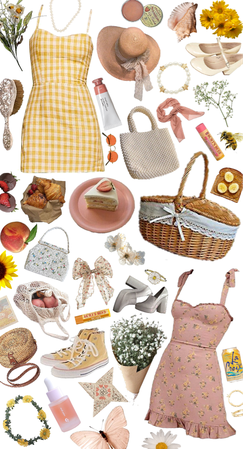 pink and yellow picnic