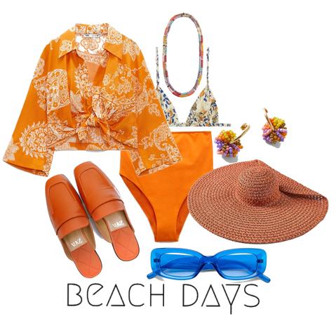 summer orange beach day