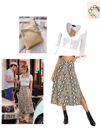 Lily James Inspired Midi