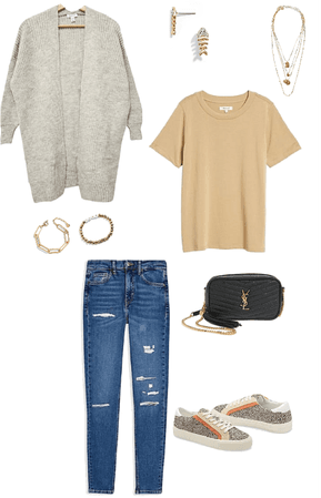Basic fall cardigan outfit