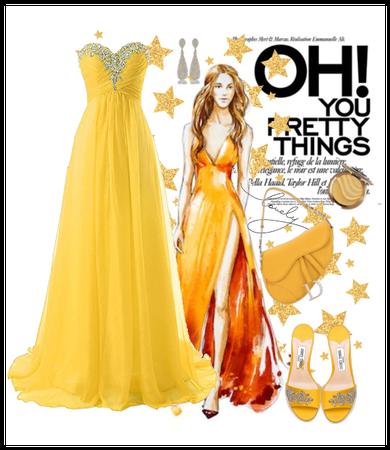 yellow sparkling