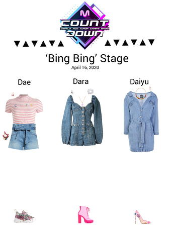 {3D}'Bing Bing' MCountdown Stage