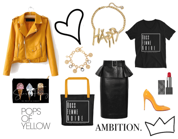 Boss Femme with a Pop of Yellow