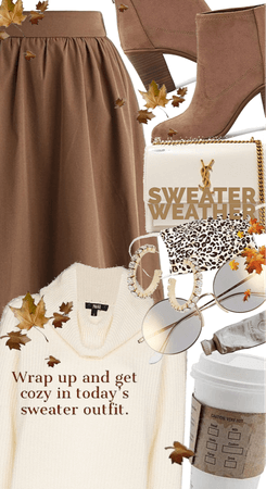 sweater weather in beige and browns for fall