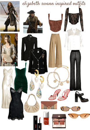 outfits inspired by elizabeth swann.