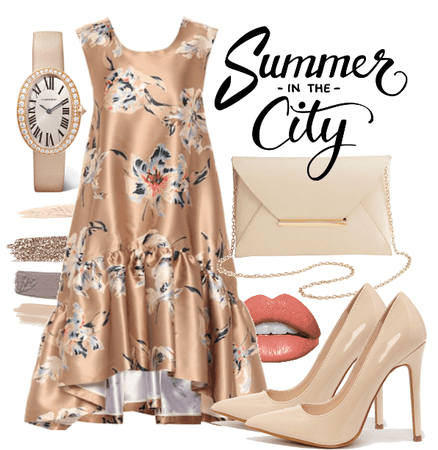 Nude Summer Dress, City day out