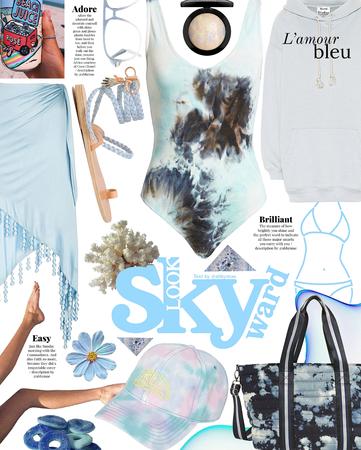 skyward blue tie dye