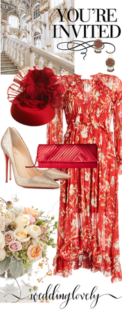 # wedding guests Lady in Red