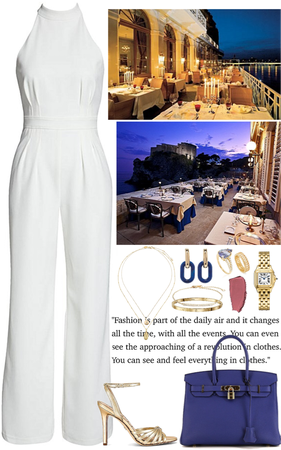 luxury outdoor restaurant outfit