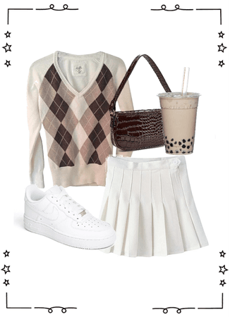 Trendy Fall Argyle Sweater Outfit
