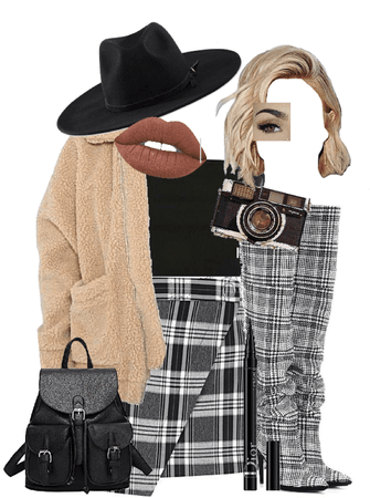 plaid layers outfit!!!