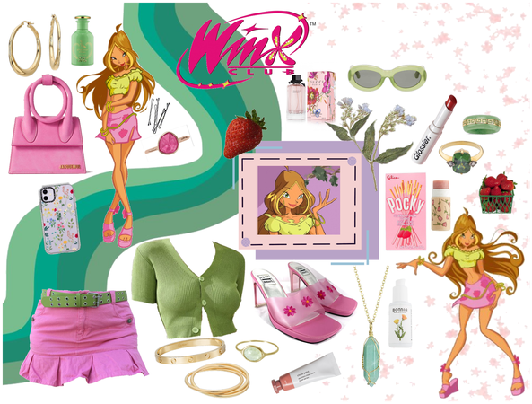 Winx Flora inspired outift