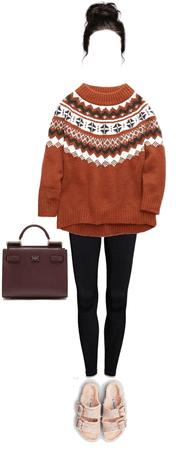 sweater and Birkenstock's