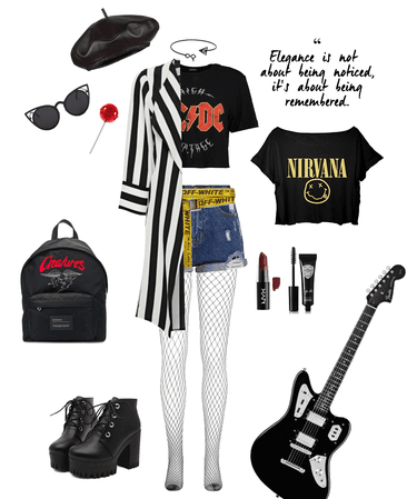gothic / grunge concert outfit