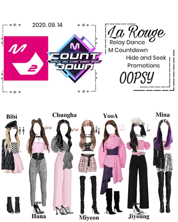 "Relay Dance & M Countdown- La Rouge ""OOPSY"" 2020. 09. 14"