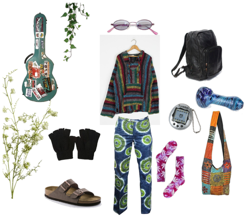 another school outfit for hippies like me