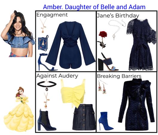 Amber. Daughter of Belle and Adam. Descendants 3