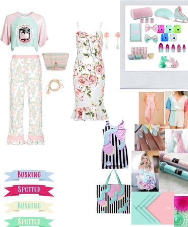 mint..pink