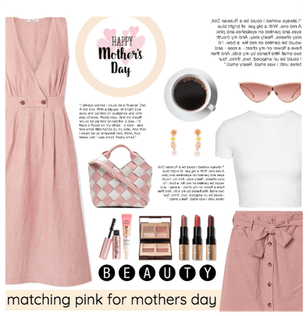 mothers day brunch: matching pink