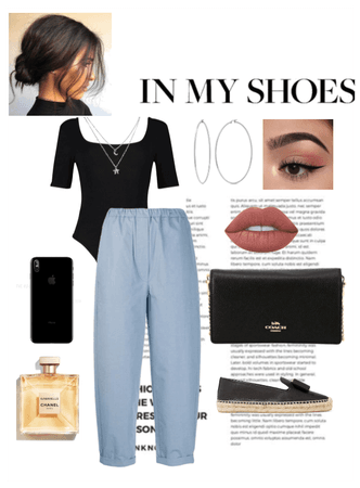 INVERTED TRIANGLE LADY EVENING LOOK