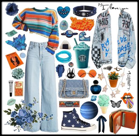 Blue orangeade