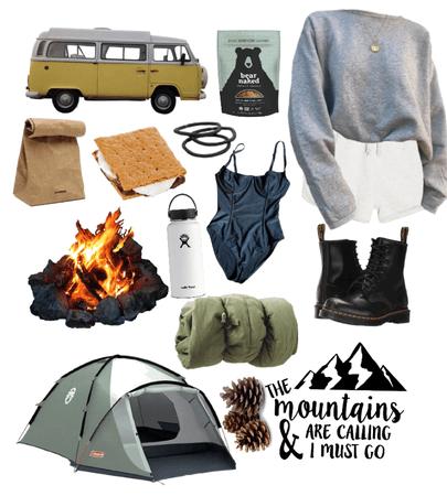 camping or hiking