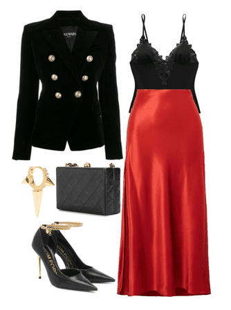 red, black and a little gold