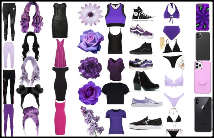 #black and purple